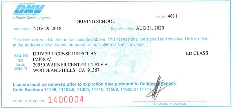 California Drivers Ed | California Learners Permit By Improv