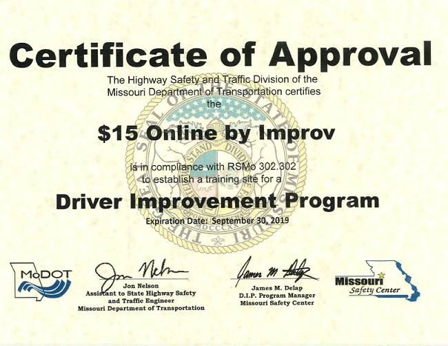 Missouri Driving Record >> Defensive Driving Missouri Online Course Improv