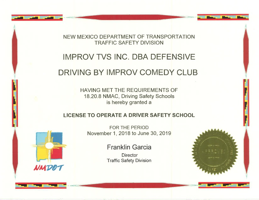 New Mexico Defensive Driving Course Online Improv