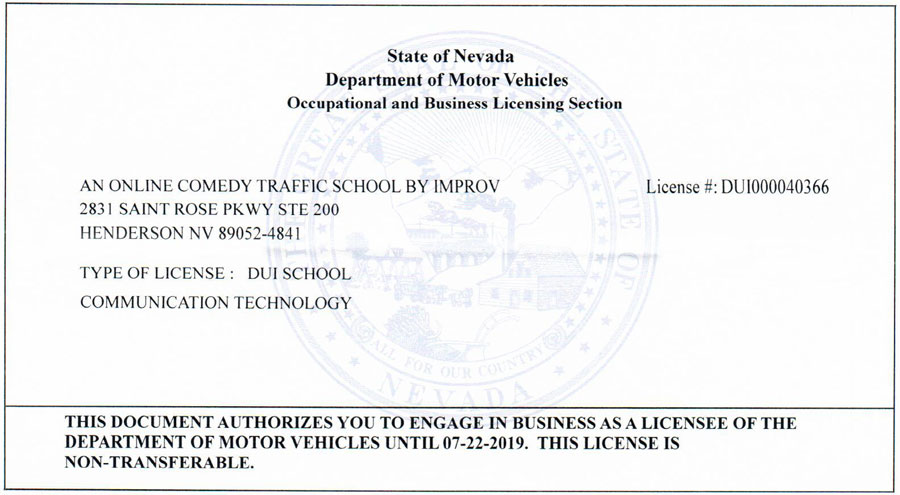 photo about Defensive Driving Course Online Texas Printable Certificate named Nevada Driver Progress Training course by way of Improv