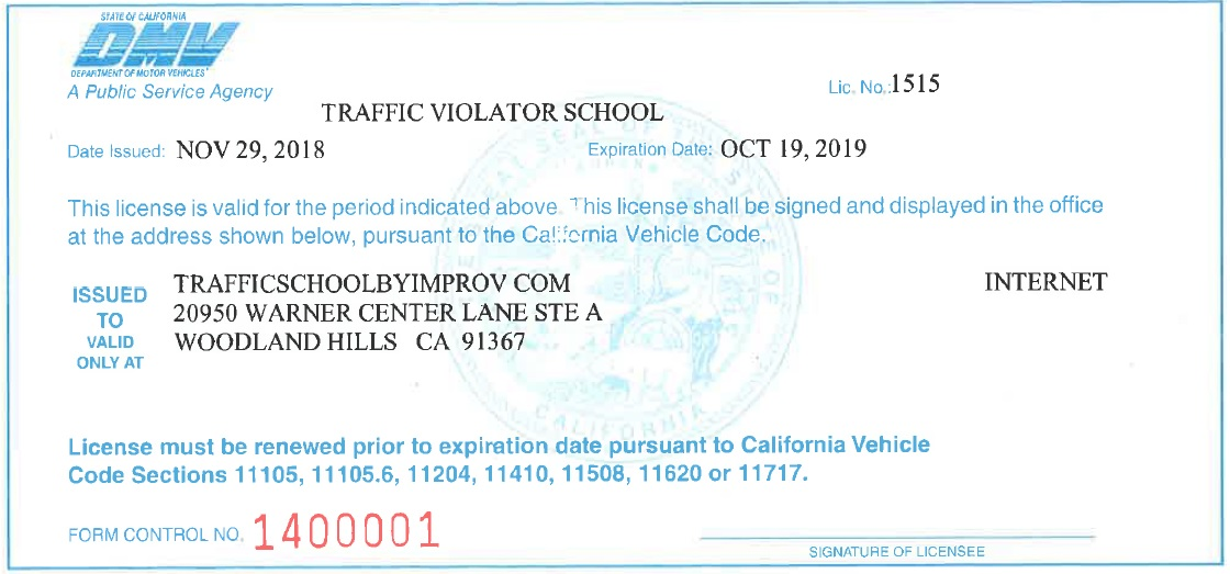 California Traffic School  Ca Online Traffic School By Improv