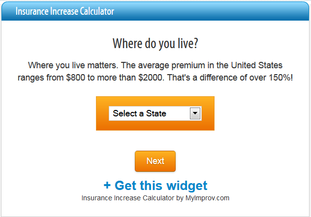 Insurance Increase Calculator