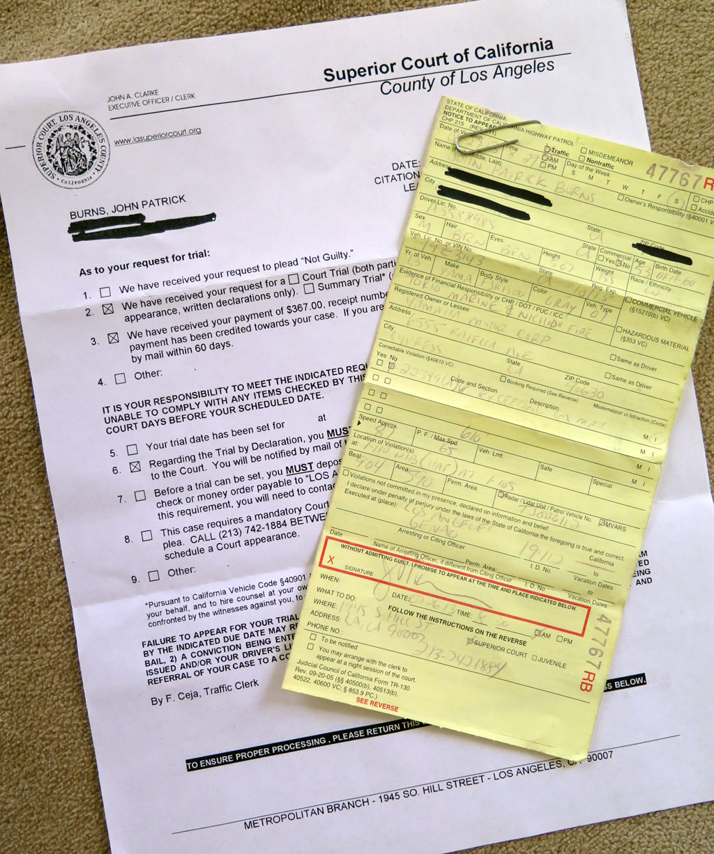 Tickets Fines And Penalties In California