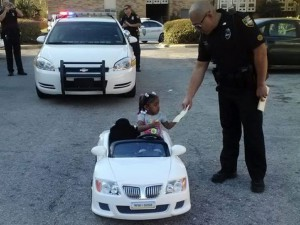 girl getting a ticket