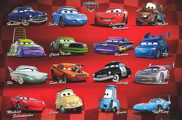 Cars Movie Characters: 2006 Cars Characters Then & Now