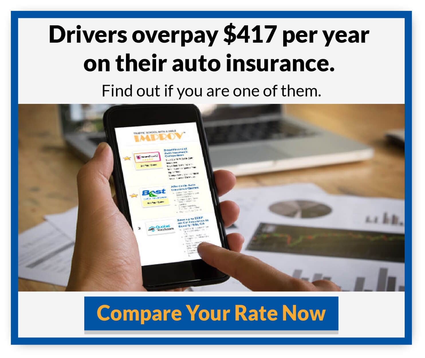 Drivers overpay on insurance rates. Compare your rate now. Click here.