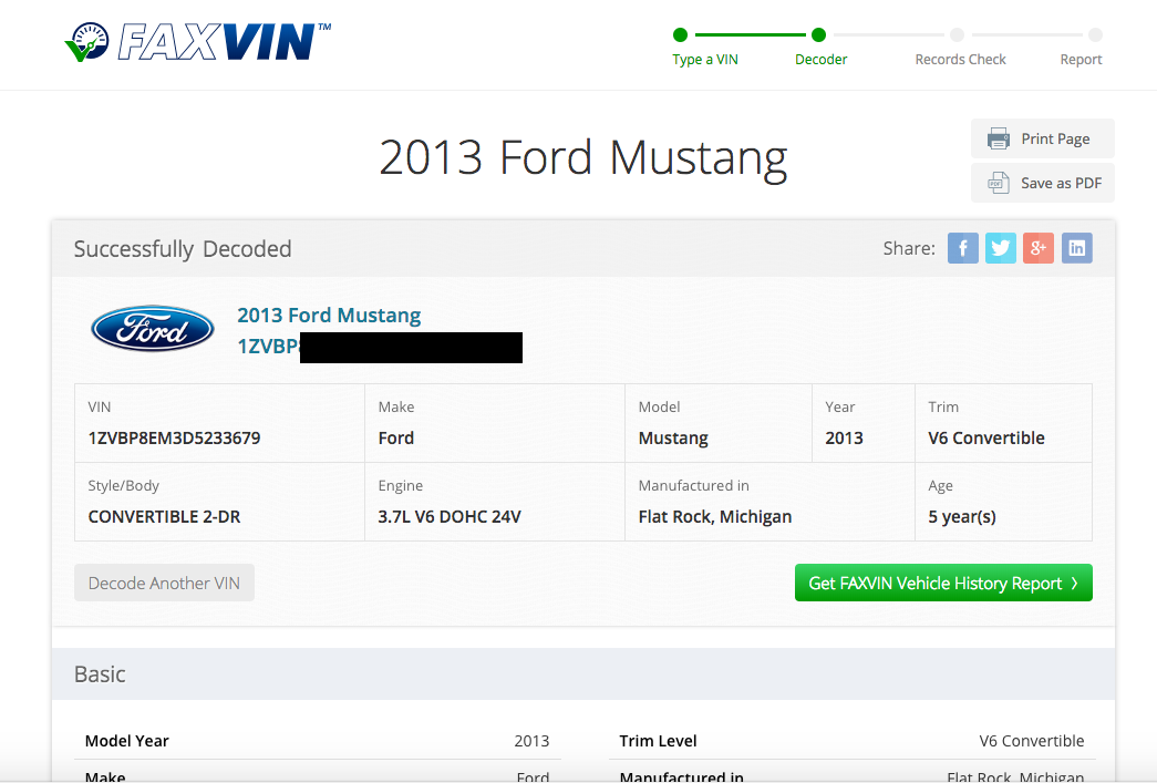 Lookup Car Value By Vin Number