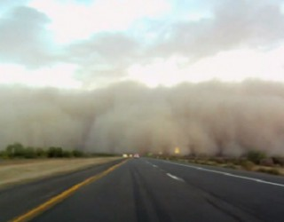 How to drive in a dust storm in AZ